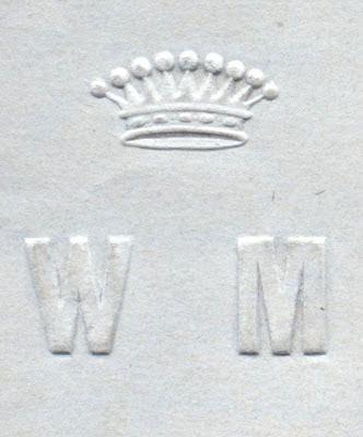Monogram Włodzimierza hr. Małachowskiego WM ozdobiony koroną hrabiowską. Zbiory Marcina Brzezińskiego
