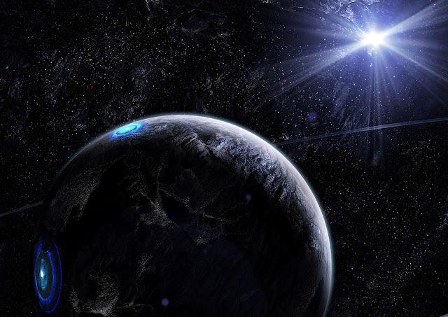 Apophis explosão, fótons de Alcyone, planeta de luz no universo