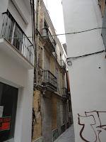edificio histórico en ruina, calle Coronado 4