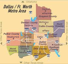 Map of Dallas Ft Worth Metro