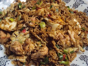 chicken and egg fried rice ....