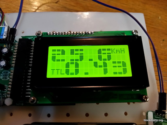 Bike speedometer with BigCrystal lib on JM164A with Print()