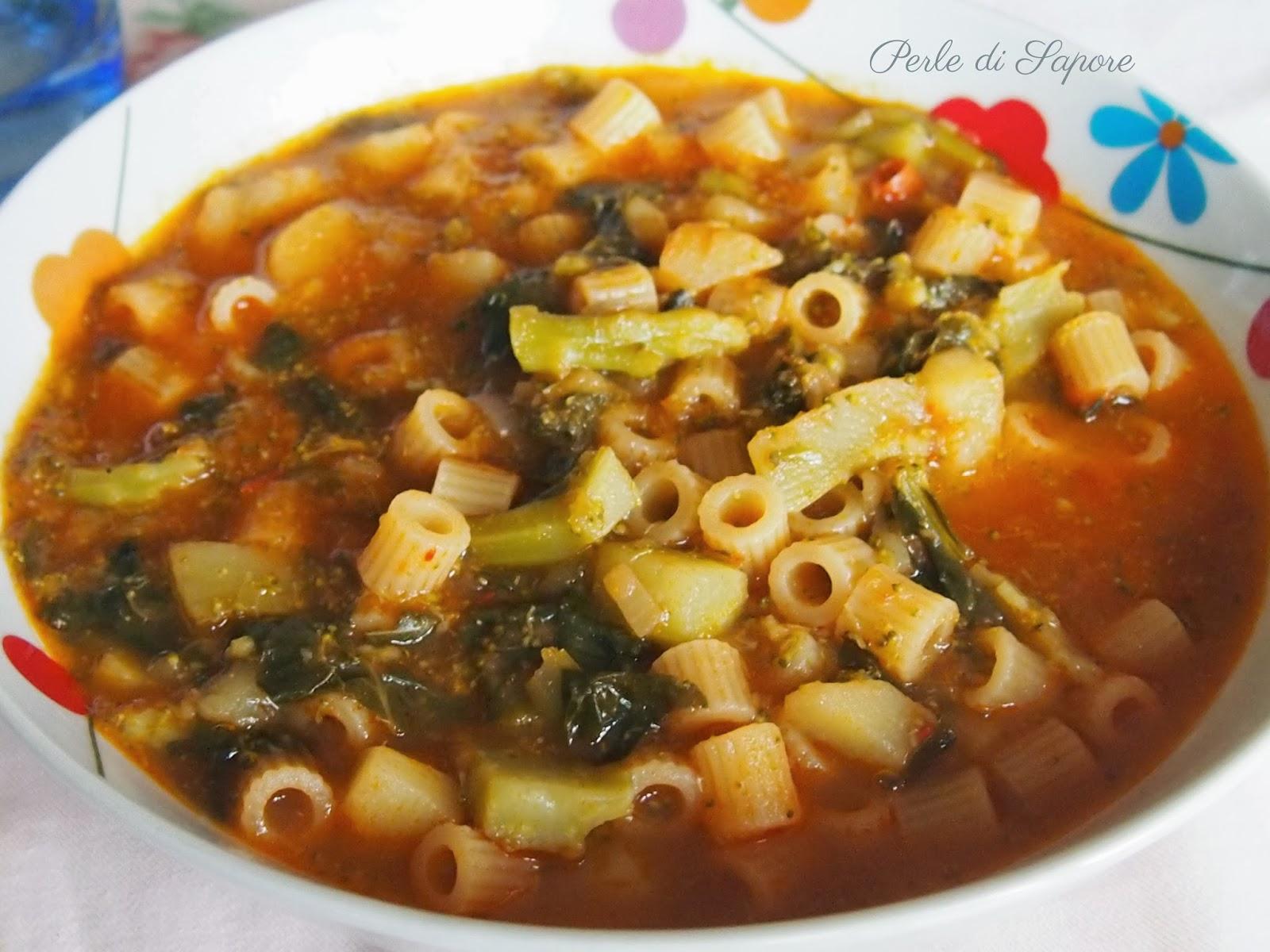 minestra d'inverno con broccoli e patate
