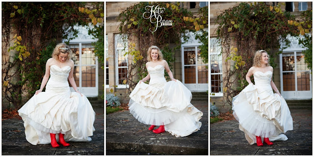 essense of australia, essence of australia, wedding wellies, wellington boots wedding, red wellies, kirkley hall, kirkley hall wedding, northumberland wedding, kirkley hall wedding photos, northumberland wedding venue, wedding halls north east, kirkley college wedding,  winter wedding, katie byram photography, floral quarter, red rose bouquet, thistle wedding,