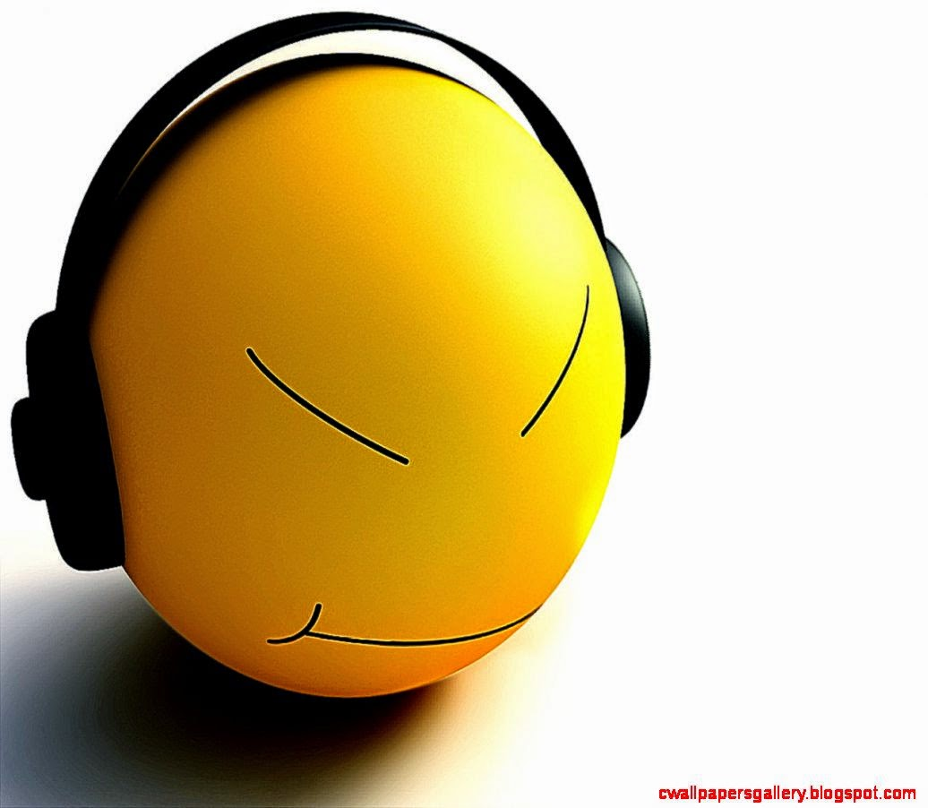 Smiley Listen Music Wallpapers  HD Wallpapers