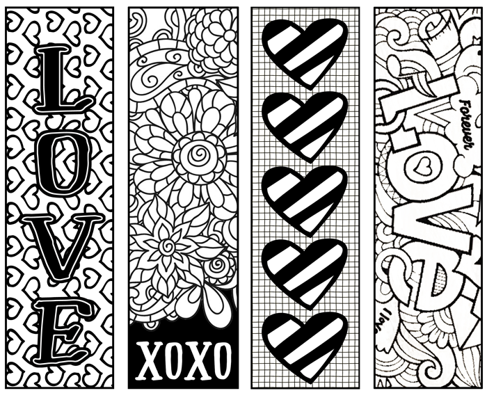 Printable Coloring Bookmarks Free : These free printable valentine s coloring bookmarks are perfect for a