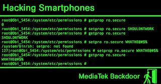 Hacking Smartphones Running on MediaTek Processors