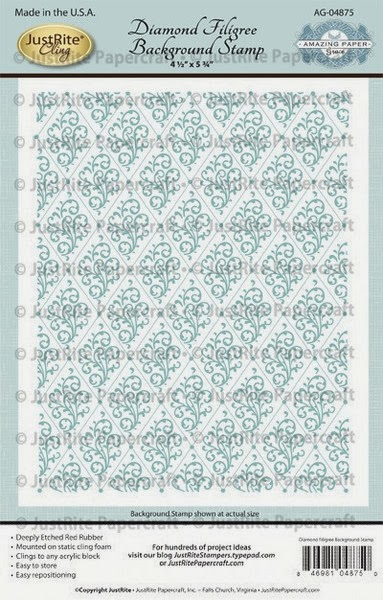 Papercraft - Diamond Filigree Cling Background and Happy Occasion ...