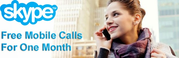 Get Free Unlimited Mobile Calls For One Month By Skype