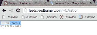 Jumlah Subscribers Blog Netfori