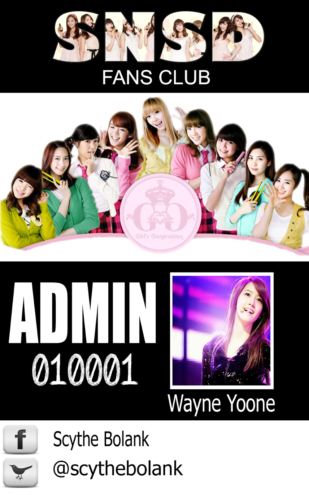 SONE ID Card For Group SNSD