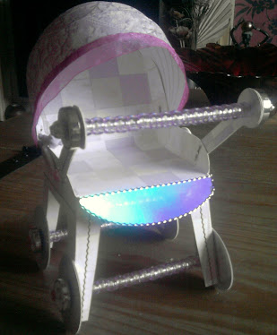3D BABY GIRL PUSHCHAIR KEEPSAKE