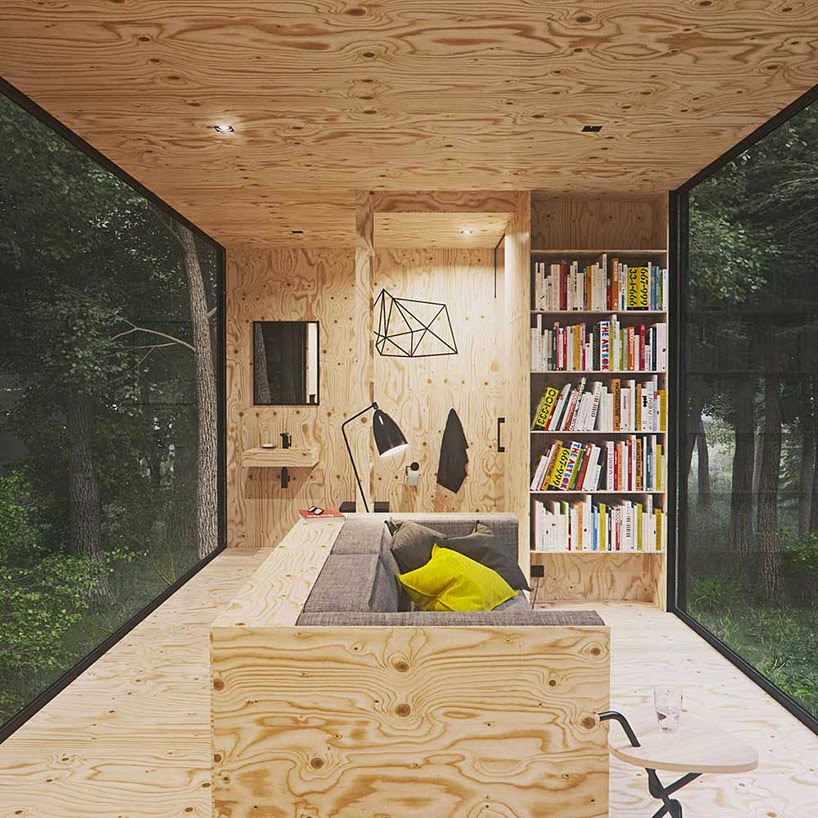 Vivienda en el Bosque Diseñada por Tomek Michalski