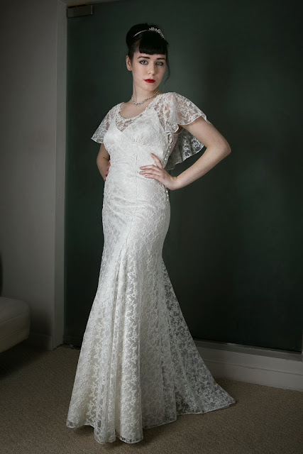 1930s vintage wedding dress 'ANGEL' c. Heavenly Vintage Brides