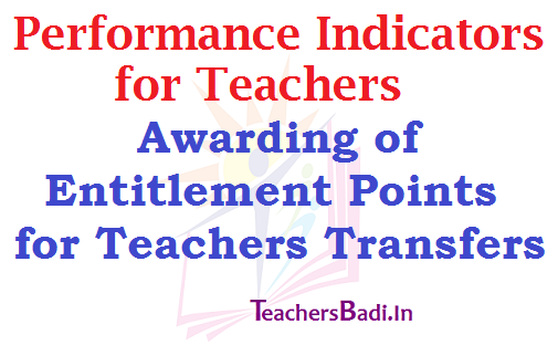 Teachers Performance Indicators,Entitlement Points,Teachers Transfers