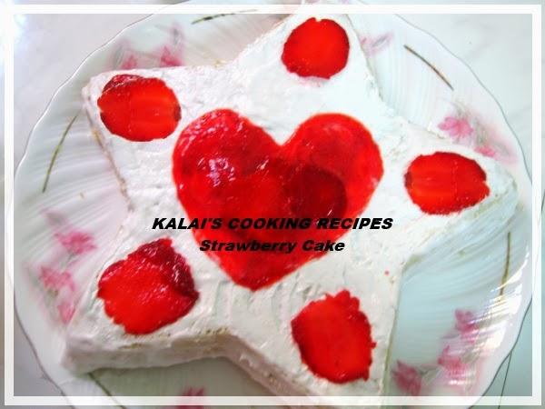 ButterLess Strawberry Sponge Cake Valentine's Day Special Dessert