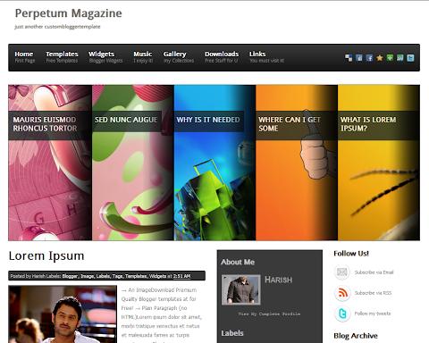 Perpetum Magazine Blogger Theme