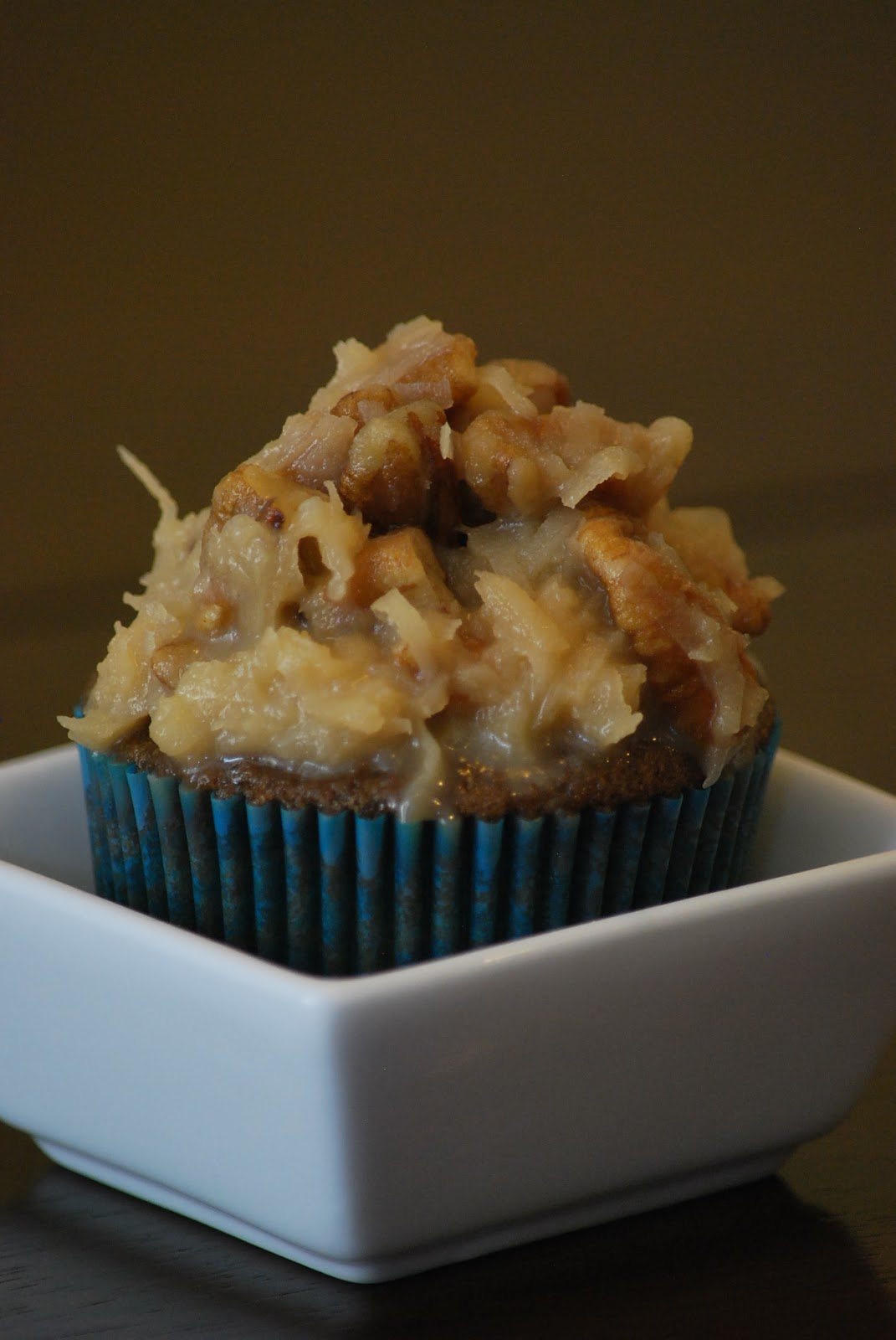 My story in recipes: German Chocolate Cupcakes