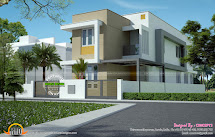 Kerala Flat Roof Home Plans and Elevations