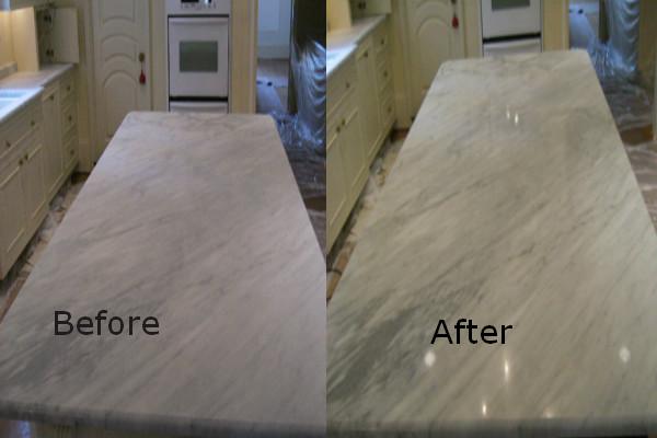 granite countertop polishing process