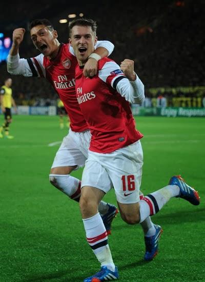 Ramsey and Ozil Arsenal vs Borussia Dortmund 20132014