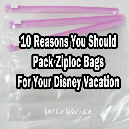 10 reasons you should take ziploc bags to disney love our crazy life 10 reasons you should pack ziploc bags for your disney vacation reheart Image collections