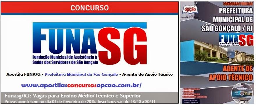 apostila para concurso público Fundação Municipal de Assistência à Saúde dos Servidores de São Gonçalo - FUNASG - Prefeitura Municipal de São Gonçalo – Rio de Janeiro