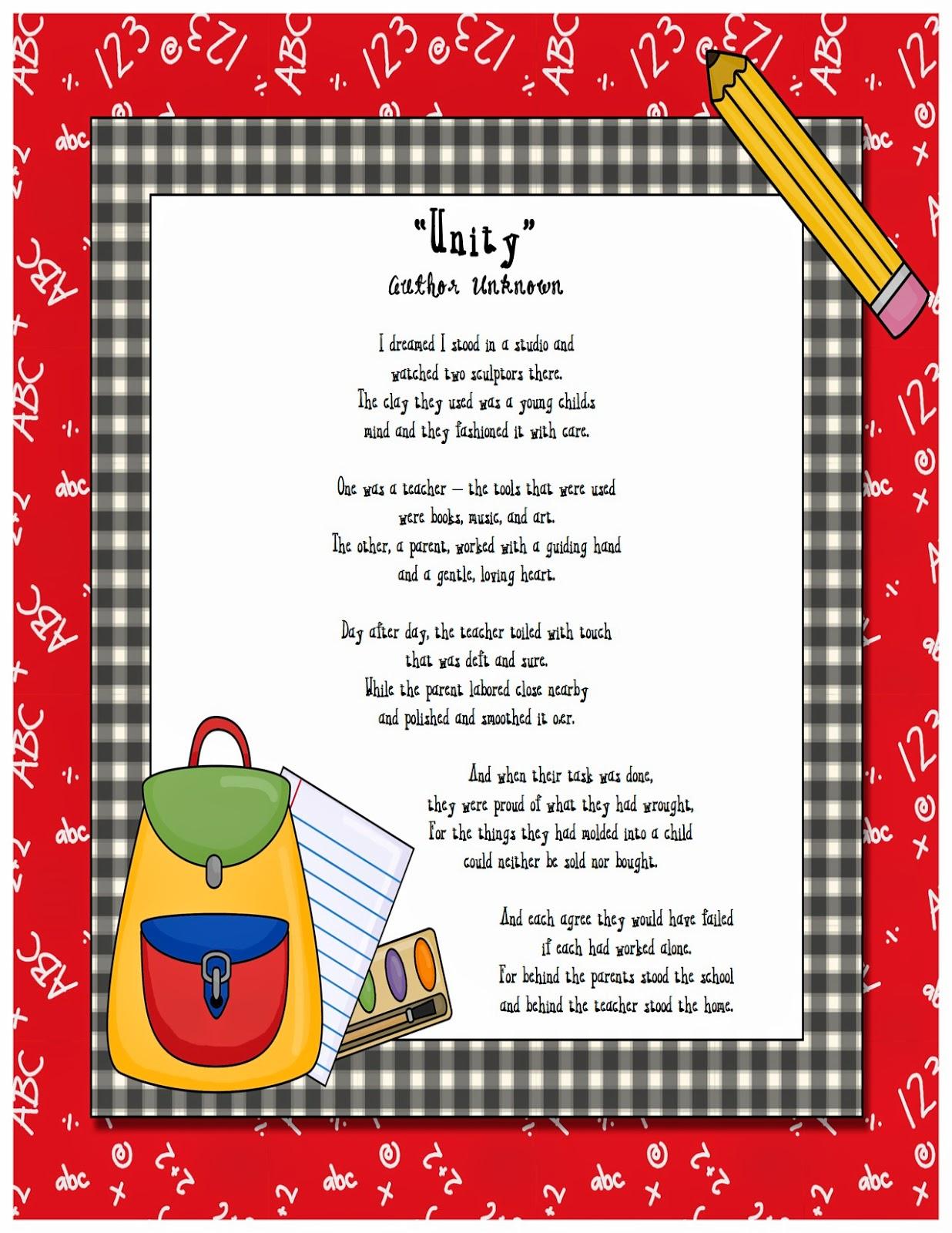 teacher appreciation poem funny | just b.CAUSE