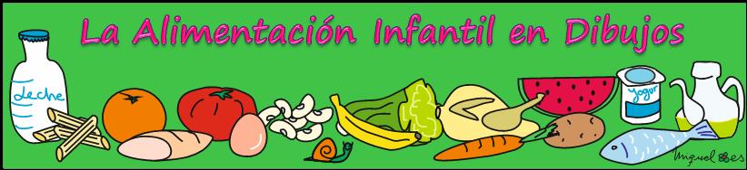 La alimentación infantil en dibujos