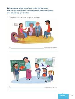 Apoyo Primaria Formación Cívica y Ética 1er Grado Bloque 4 Lección 4 Los grupos se organizan para funcionar