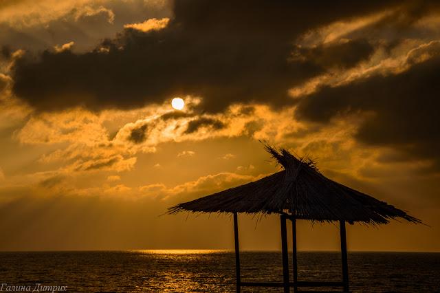 Черное море закат фото