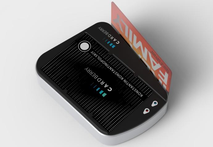 2 в 1: беспроводная зарядка Cardberry и устройство для считывания дисконтной карты