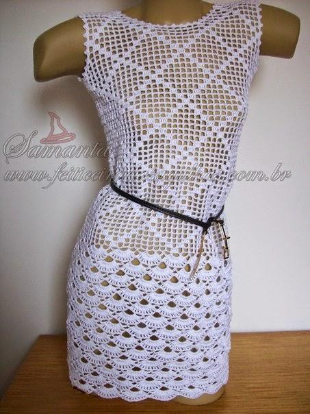 Vestidos a Crochet con Patrón Y Graficos paso a paso