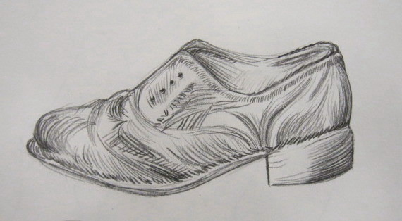 Contour Line Drawing Of Shoes : Ocean art broadside february