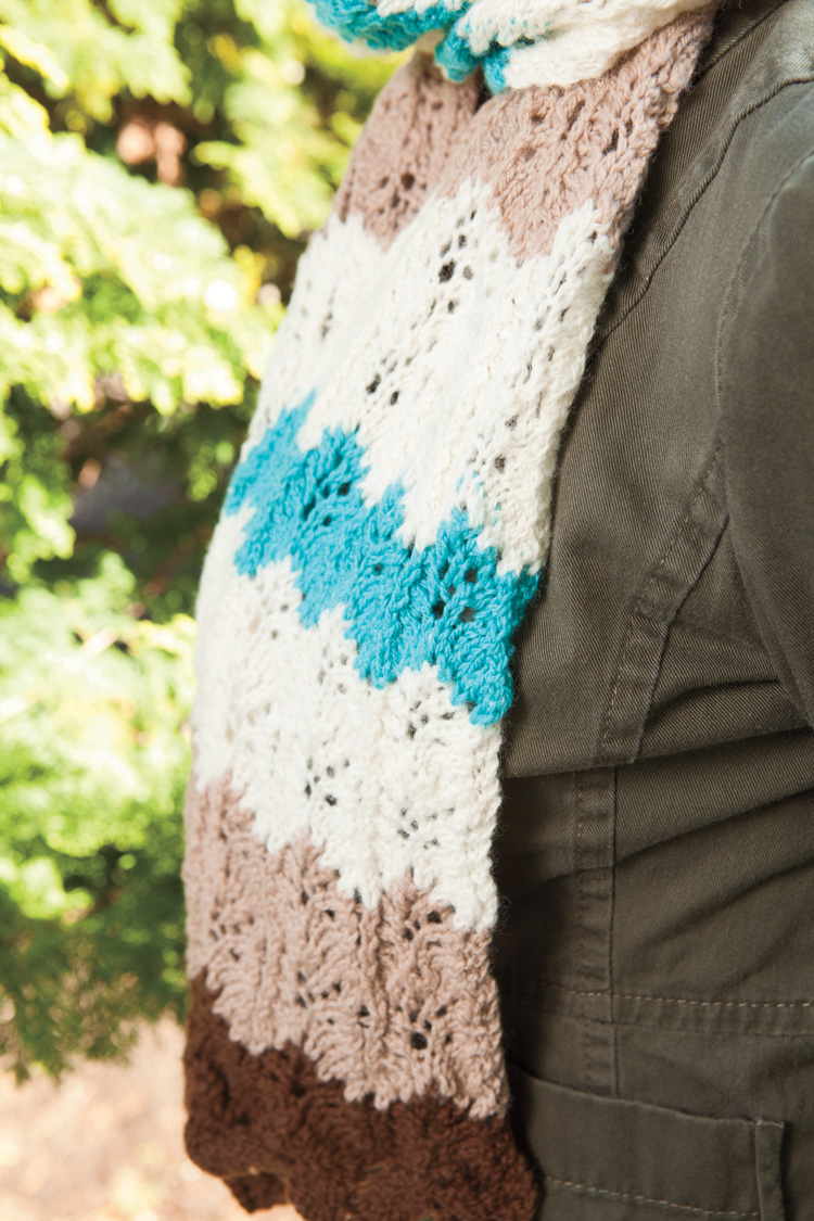 Ripple Lace Knitting Pattern : Merry Melody Designs: Desert Ripple Lace Scarf or Indian ...
