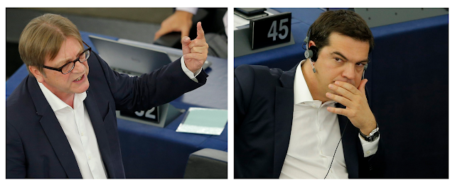 Eurodiputado belga agita la redes sociales al hablarle de Grecia a Tsipras