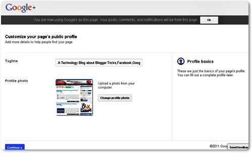 how to create a google+ page