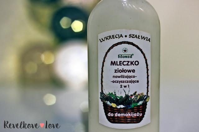 FITOMED - Ziołowe mleczko nawilżająco-oczyszczające do demakijażu (Lukrecja i Szałwia)