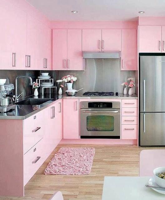 Cocinas Femeninas en Colores Rosado Rosa ~ Decoración del hogar