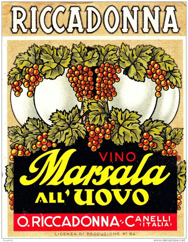 vintage etichetta vino liquoroso riccadonna packaging etichette marsala uovo uva canelli