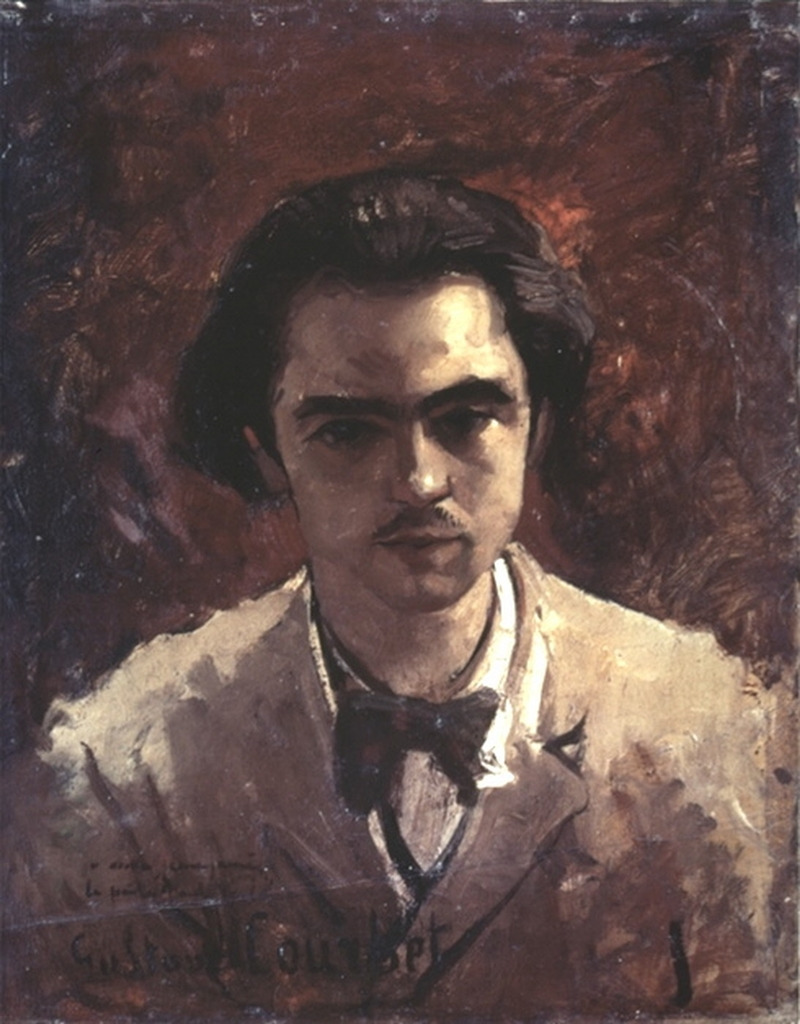 Gustave Courbet - Portrait of Paul Verlaine