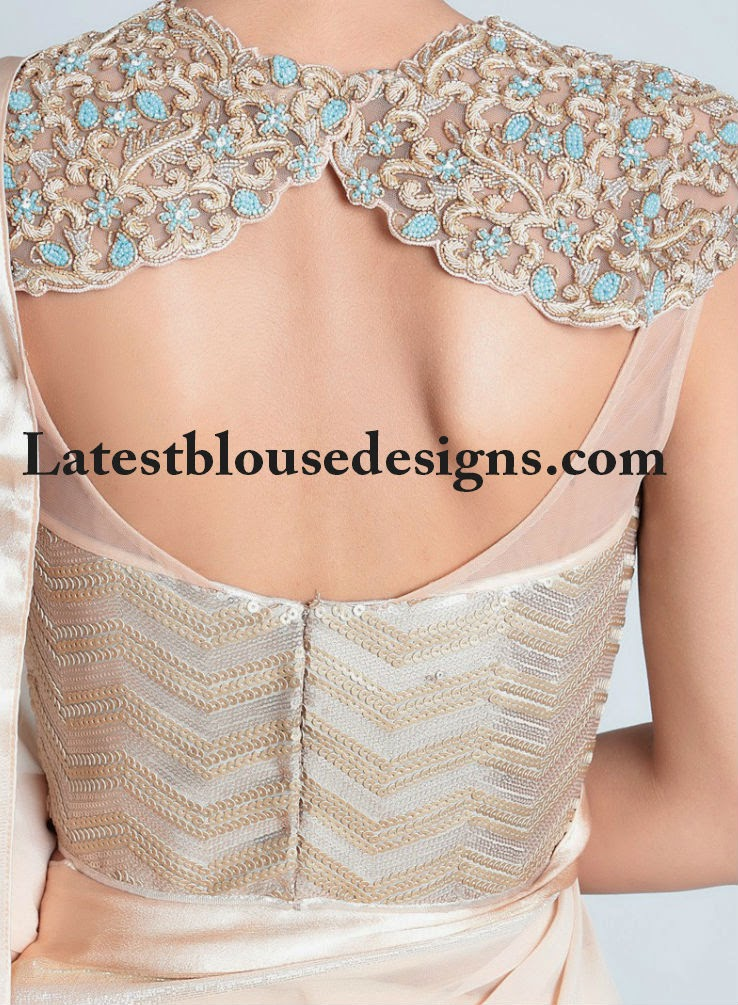 net saree blouse designs 2014