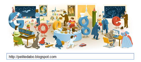 Logo Google Selamat Tahun Baru