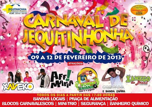 Jequi+carn%C3%A1+2013 Cidades do vale se preparam para o Carnaval 2013