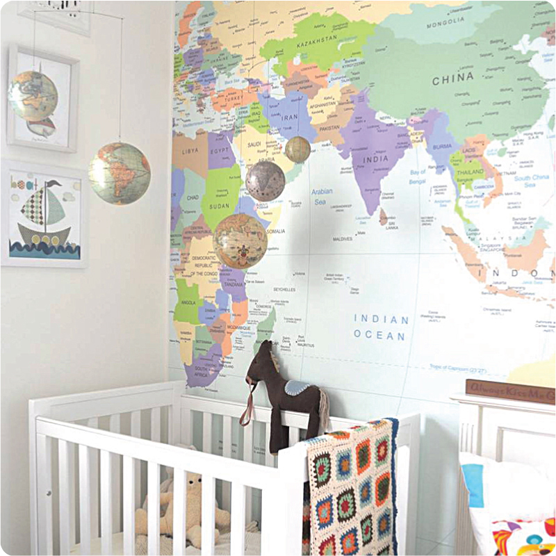 World Map Wallpaper Polly Rowan - World map wallpaper for walls india