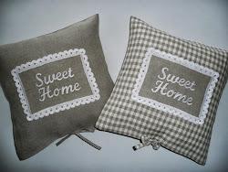 """Lniane poduszki """"Sweet Home"""""""