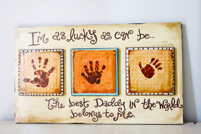 Father's Day Gift: Lucky Handprint Plaque