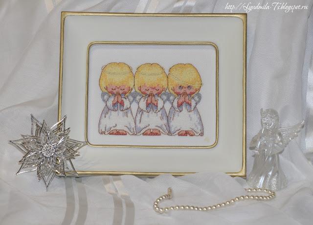 Dimensions - 16633-DMS Almost Perfect (Почти идеальный), ангелы, ангелочки, вышивальные приметы, вышивка к детям, ребенок, белая рамка, деремянная рамка