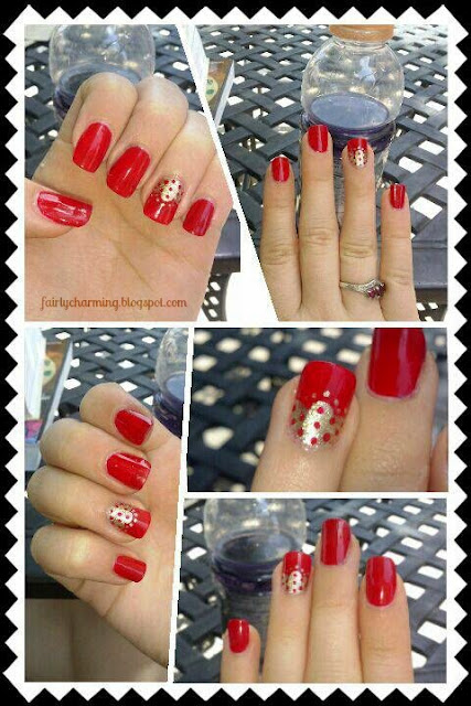 Red, Gold, elegant, lace, nails, nail design, mani