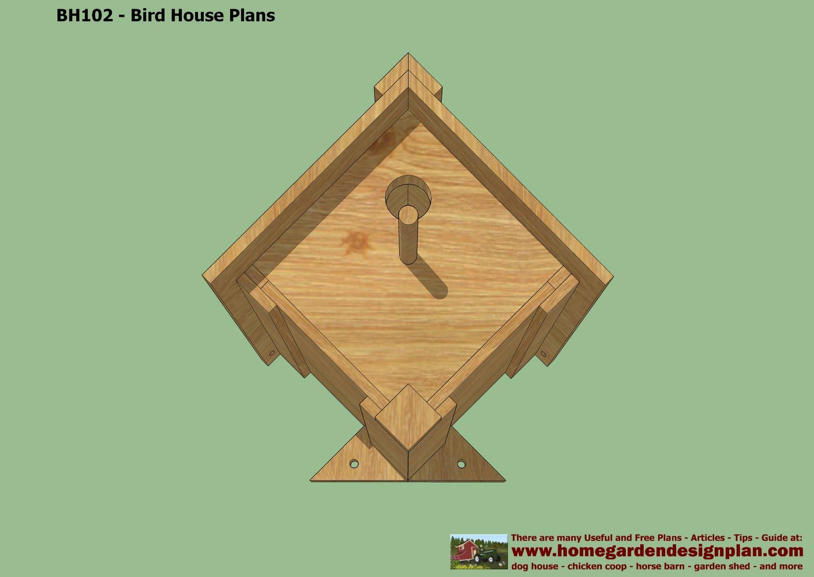 Home Garden Plans Bh102 Bird House Plans Construction